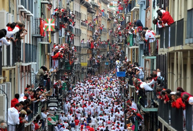 Image result for Running of the Bulls — Pamplona, Spain