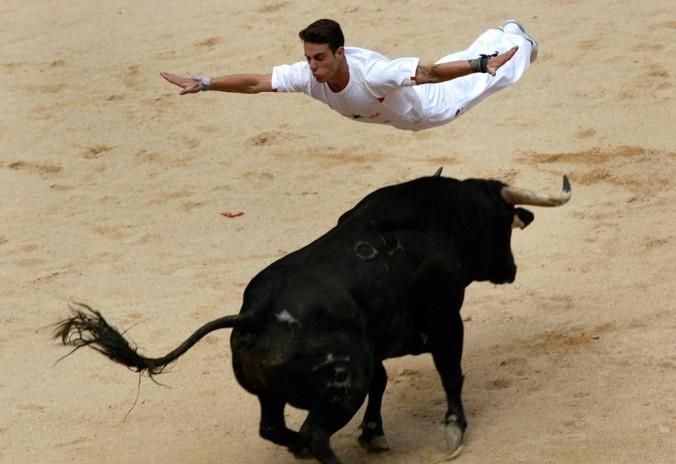 Spanish Festival Bull Running Running of The Bulls Festival
